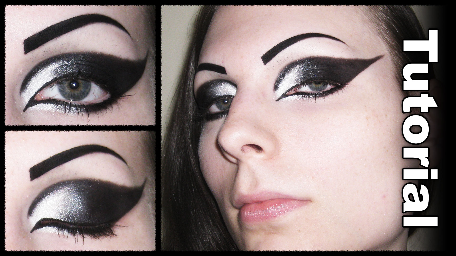 Dramatic gothic white to black extended winged cat eye makeup dramatic gothic white to black extended winged cat eye makeup tutorial autumn asphodel baditri Gallery