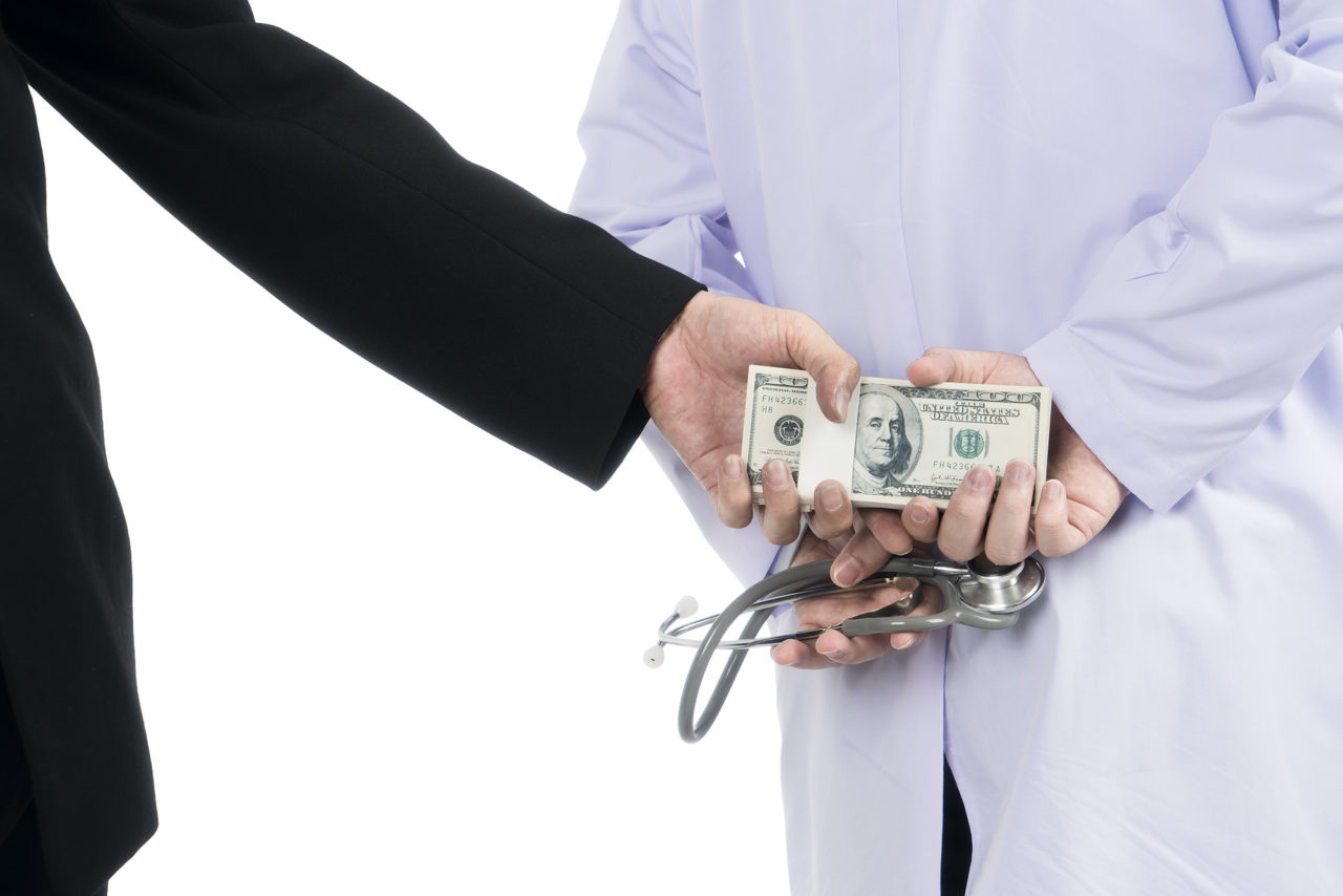 Doctor received corruption money from businessman