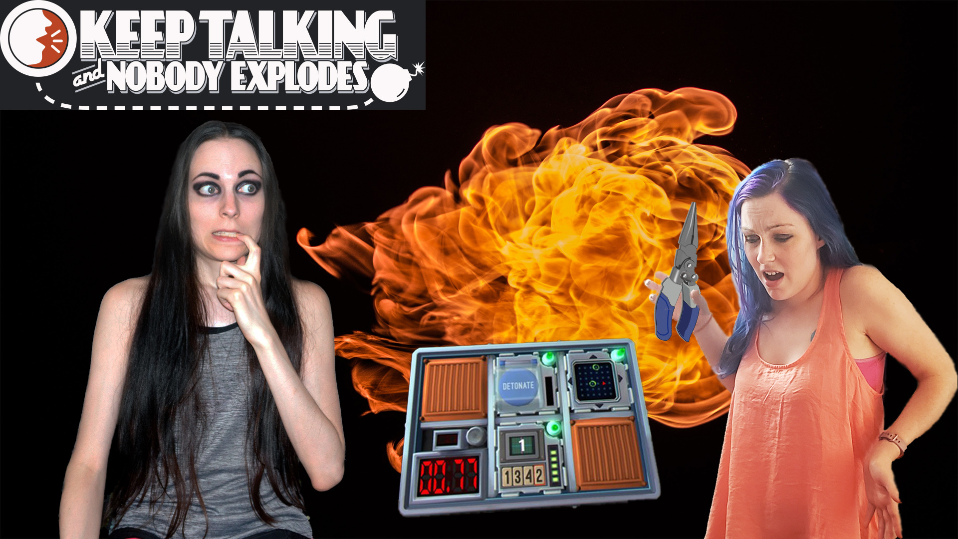 My Sister (Awkward Couple Gaming) - Cool girls don't look at explosions! | Keep Talking and Nobody Explodes