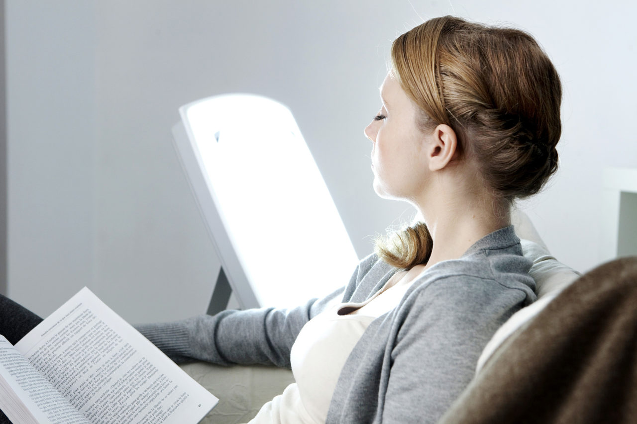 Woman light therapy