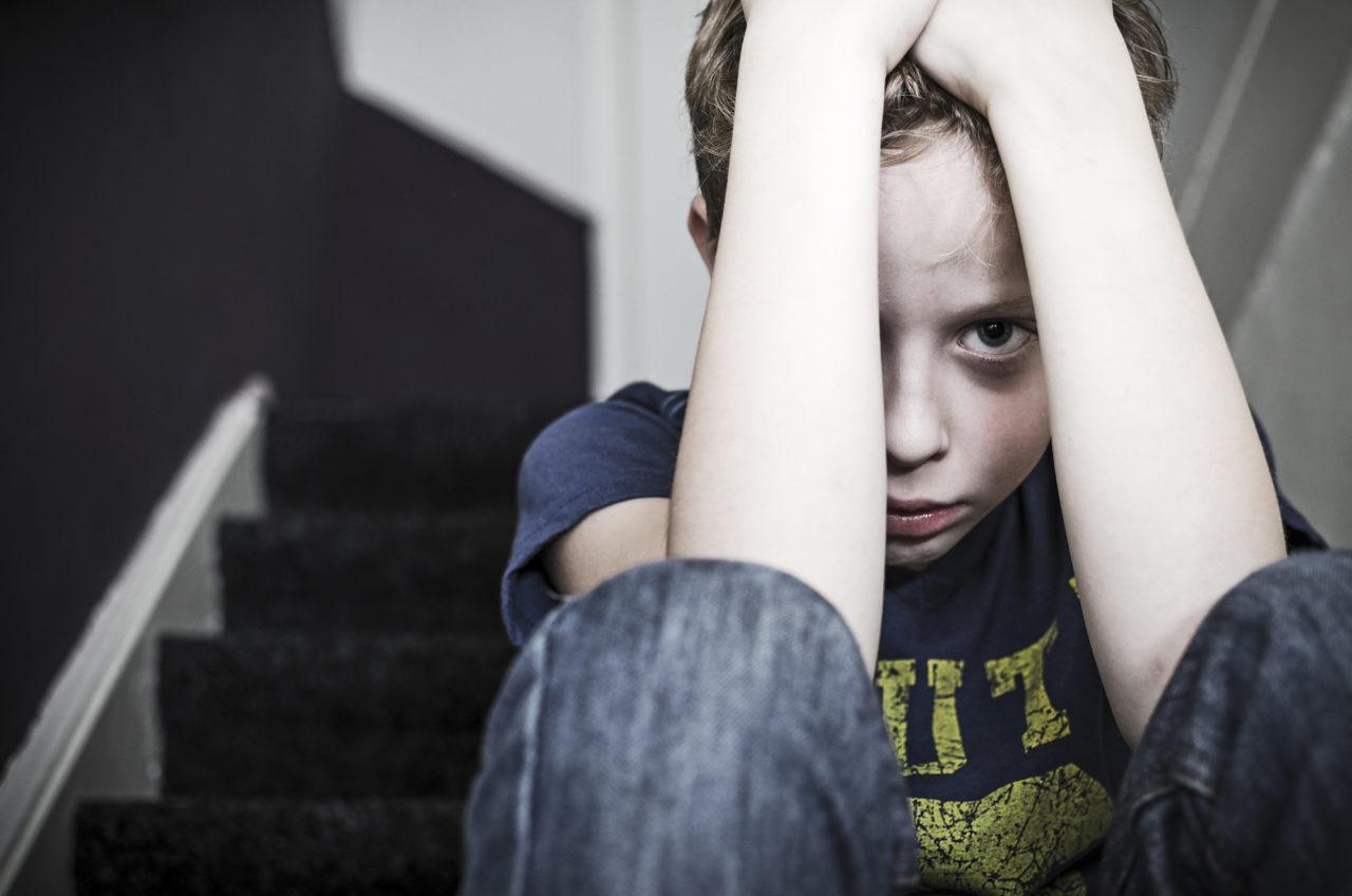 Depressed little boy