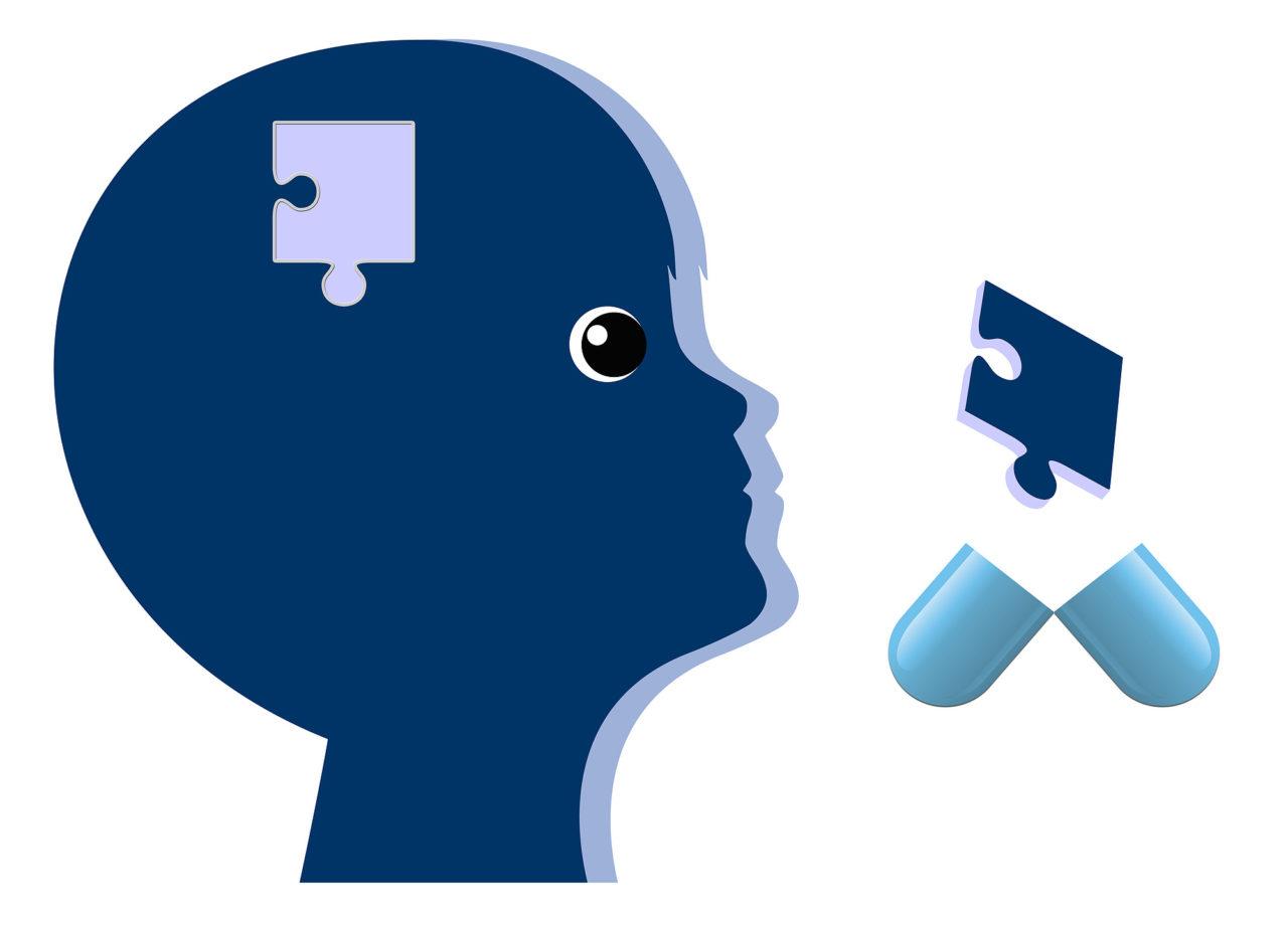 Psychiatric Drugs for Children. Kid with brain disorder gets med