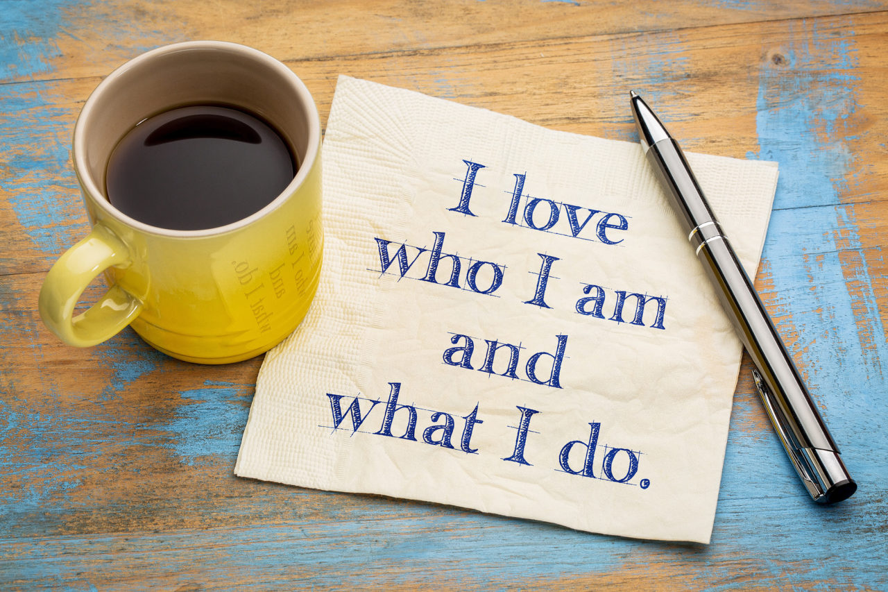 positive affirmation words on napkin