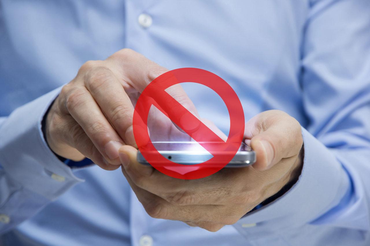 divieto, vietare, telefono, connessione, internet