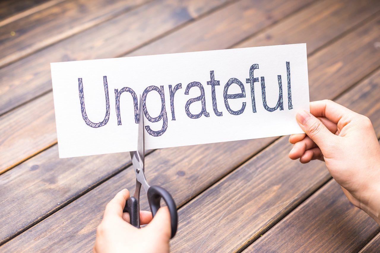 ungrateful to grateful by scissors