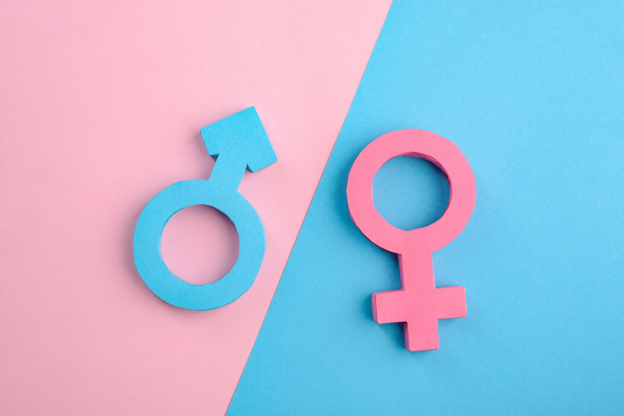 Male and female gender signs