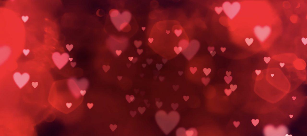 Valentines day background banner